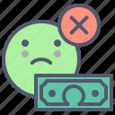 deny, dollar, grow, money, sum, target, wealth icon