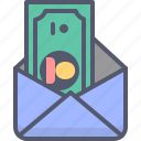 dollar, mail, money, request, send, transfer icon