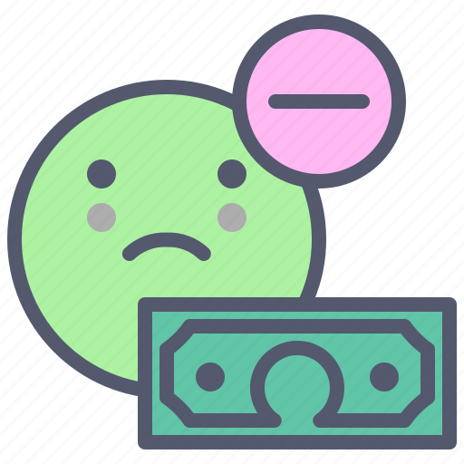 Decrease, dollar, money, poor, remove, stocks, sum icon - Download on Iconfinder