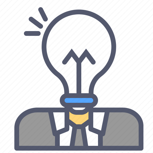 bulb, business, grow, human, idea, intelligence icon