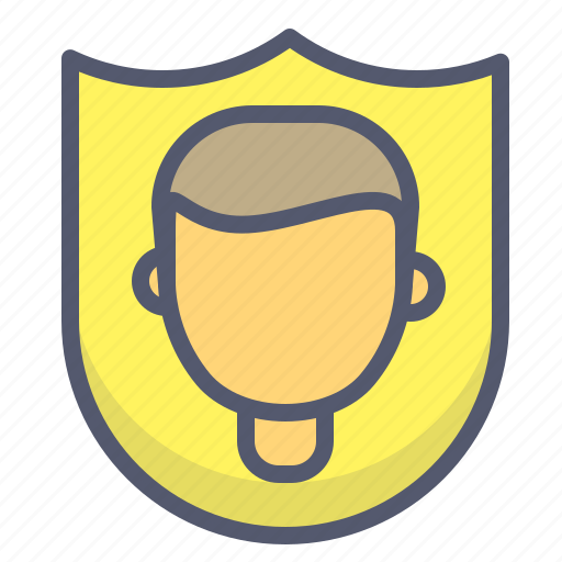 male, protection, security, shield, user icon