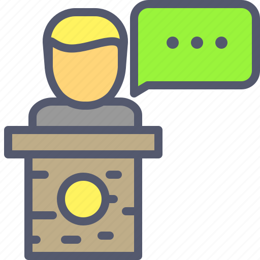 chat, conference, message, speaker, teach icon