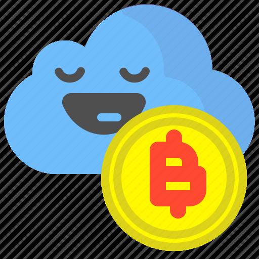bitcoin, cloud, crypto, safe, save, upload icon