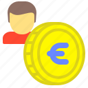 account, coin, economy, euro, money, savings