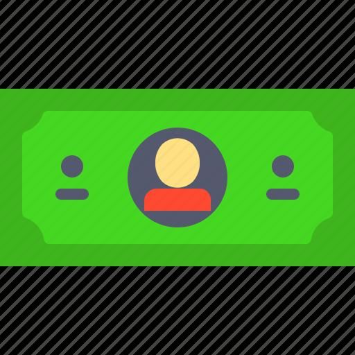 bill, dollar, finance, one icon
