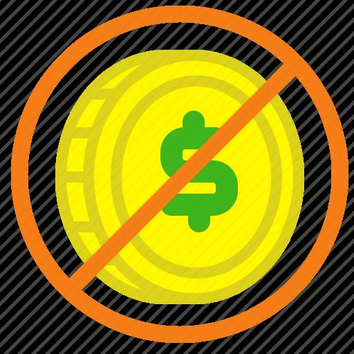 Coin, dollar, exchange, forbidden, value icon - Download on Iconfinder