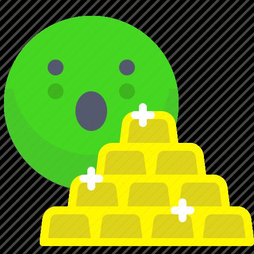 brick, gold, seif, stone, vault icon