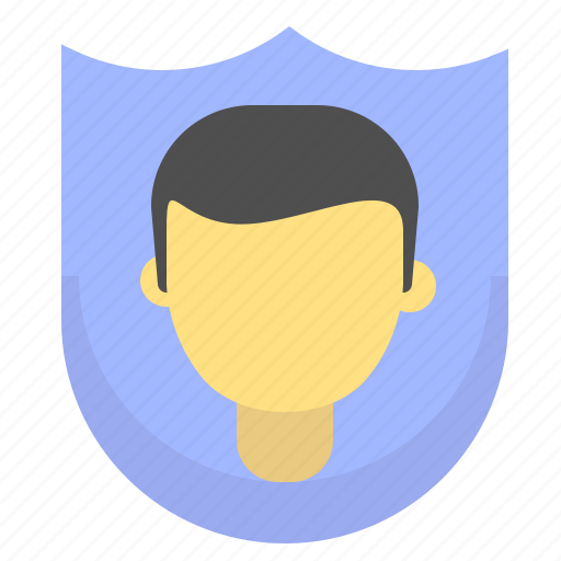 Male, protection, security, shield, user icon - Download on Iconfinder
