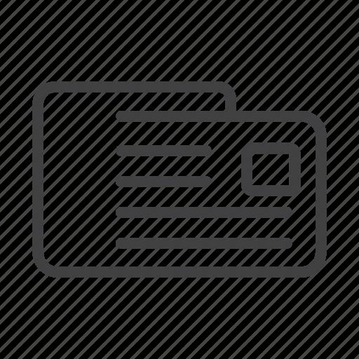 identity, newsletter, newspaper, notice, notification, portfolio, resume icon