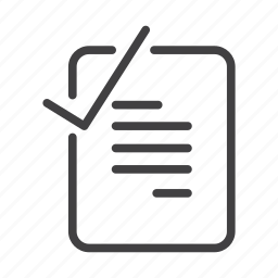 checked docuemnt, completed, document, note, verification, verified icon