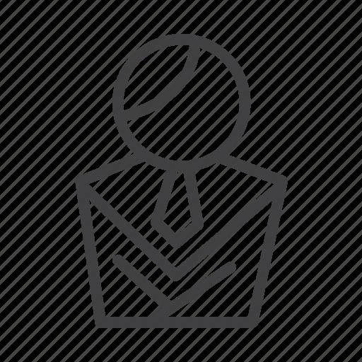 employee, executive, identity, office staff, person, profile, representative icon