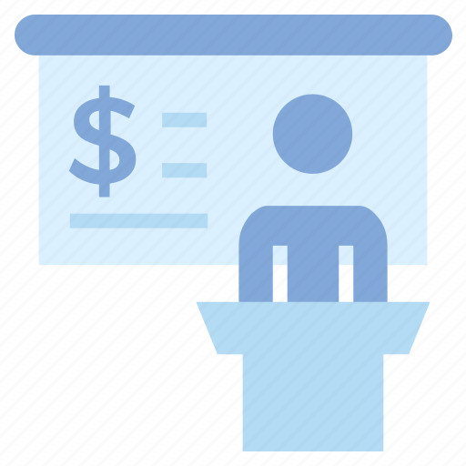 Announcement, board, business, business & finance, dollar sign, person icon - Download on Iconfinder