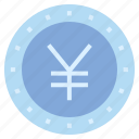 business, business & finance, coin, money, yen, yen coin icon