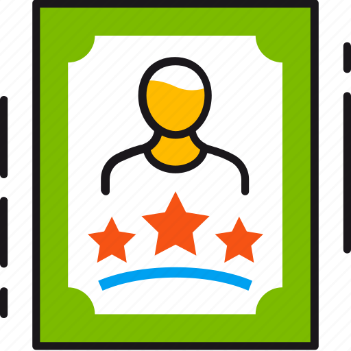 award, best, employee, person, picture, profile, worker icon