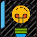 development, idea, lamp, light, page, solution, web icon
