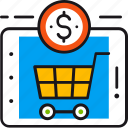 buy, cart, commerce, ecommerce, internet, online, shopping icon