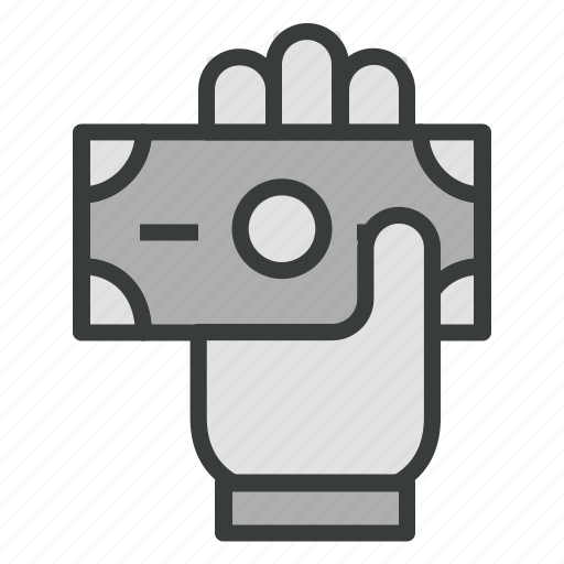 business, currency, finance, hand, money, payment icon
