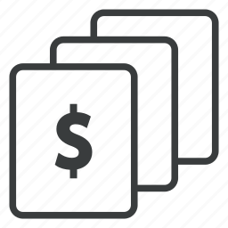 business, cards, finance, money icon