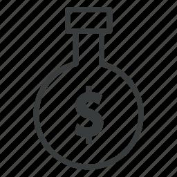 business, cylinder, finance, flask, money icon