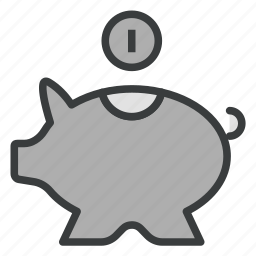 bank, business, finance, piggy bank, savings icon