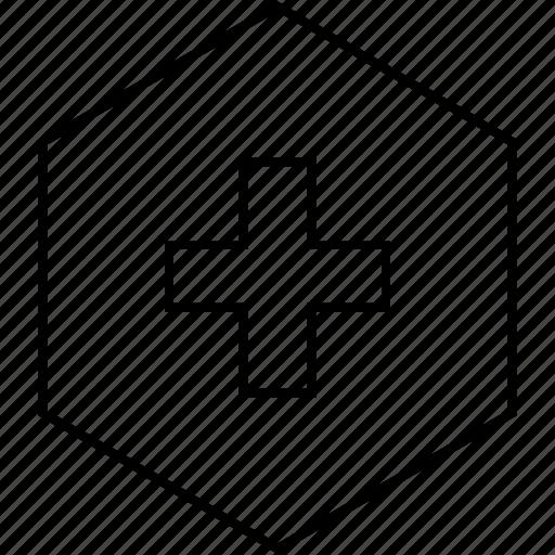 cross, plus, sign icon