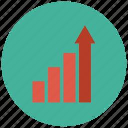 business graph, business growth, graph, growth, growth chart icon