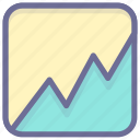 analysis, business, statistics, stock, trend icon