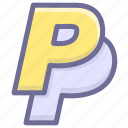 business, finance, payment, paypal icon