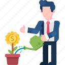 business, finance, flower, grow, growth, money, plant