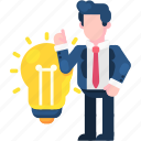 business, creative, finance, idea, innovation, lamp, solution icon