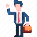 bag, business, character, finance, job, start, work icon