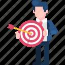 achievements, arrow, business, finance, goal, target, vision icon