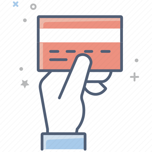 business, buy, card, credit card, finance, hand, pay icon