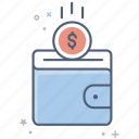 business, cash, dollar, finance, money, pocket, wallet icon