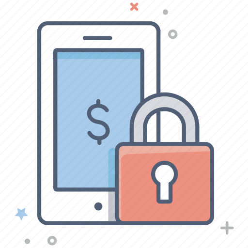 business, dollar, investment, lock, padlock, phone, secure icon