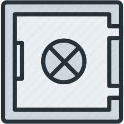 business, finance, safe, strongbox icon