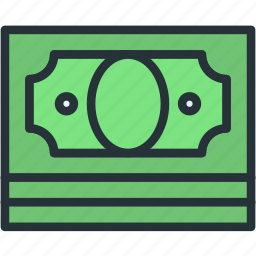 business, cash, finance, money, stack icon