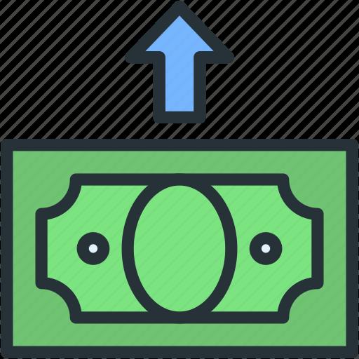 back, business, finance, money icon
