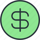 business, coin, currency, dollar, finance, value icon