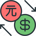 business, dollar, exchange, finance, pi, yuan icon