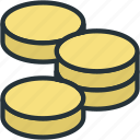 business, coin, finance, money, stack