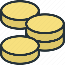 business, coin, finance, money, stack icon