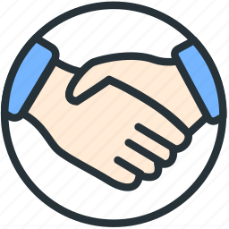business, collaboration, finance, hand, shake, work icon