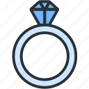 business, diamond, finance, jewel, luxury, ring icon