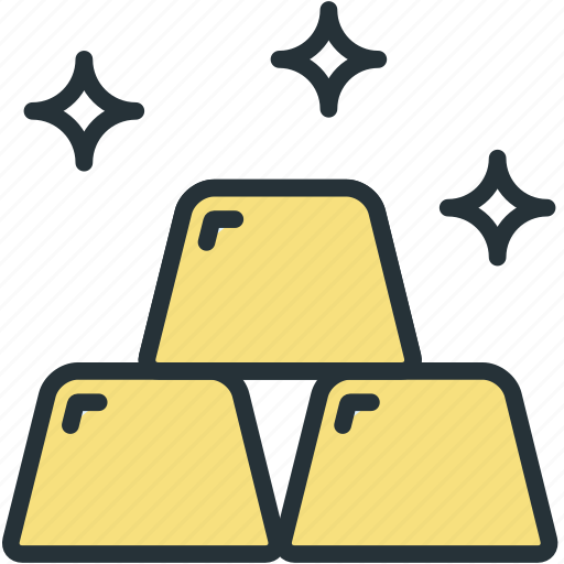 bars, business, finance, gold icon