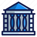 bank, building, business, education, finance, school, university icon