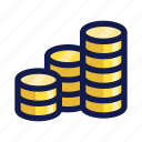 bank, banking, business, coins, finance, money, payment icon