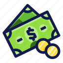 banking, business, coins, finance, financial, money, payment icon