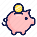bank, business, finance, financial, money, payment, piggy icon