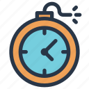 bomb, business, deadline, finance, time icon